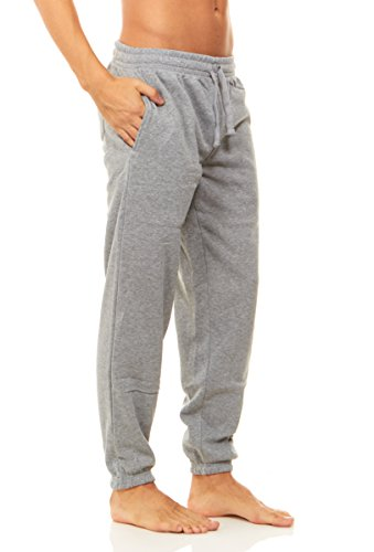- Unique Styles Mens Fleece Lined Athletic Sweatpants Pockets Drawstring Waistband, Grey, XL