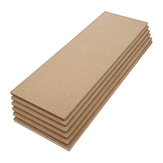 AmericanElm 5.5 mm MDF Board Sheet (5 x 15 Inch) 6 Pcs Hardboard Sheets for Art and Crafts