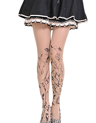 Symmetrical Tattoo - Qingsun the New Stamp Tattoo Stockings Pantyhose (Group Wudie Fly)