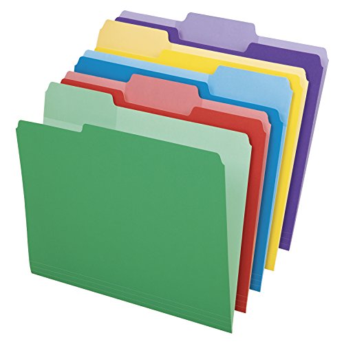 Esselte Top Tab Colored Folders (ESS84370)