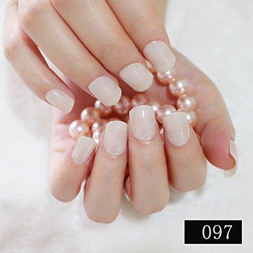 Natural Art Duo - CoolNail 24pcs Candy Lady False Nails Natural Beige Nail Art Beautiful Plastic Nail Tips Nail Salon Fake Nail Tips