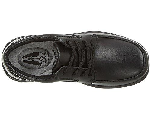 Hush Puppies Ty Oxford Uniform Dress Shoe (Toddler/Little Kid/Big Kid), Black, 4.5 W US Big Kid