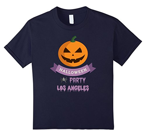 Kids Los Angeles Scary Pumpkin Local Halloween Party T Shirt 12 Navy (Halloween Parties In Los Angeles 2017)