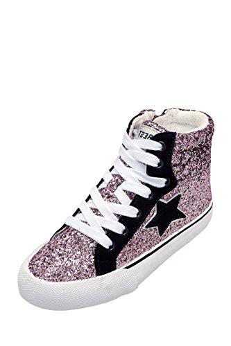 next Niñas Zapatillas De Caña Alta Estilo Retro (Niña Pequeña) Multicolor Glitter