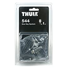 Thule TH544 CRUZBER, Negro, Plata, 4 BOMBINES/1LLAVE