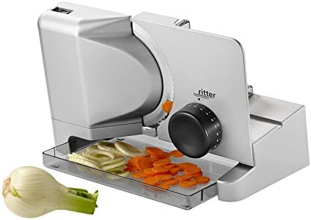 ritter E 16 Electrical Food Slicer with eco Motor, Made in Germany, Metal, 65 W