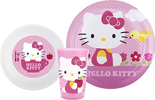 Zak Designs Sanrio Plate, Bowl & Cup Gift Set, Hello Kitty, 2 piece -