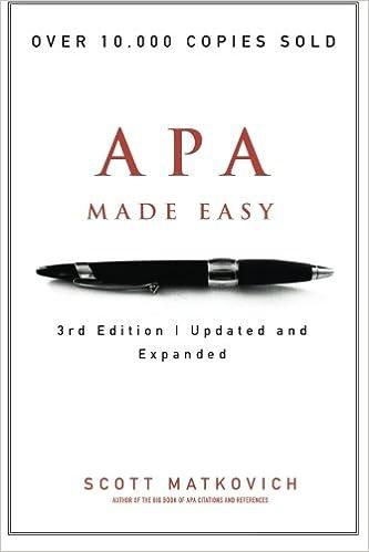 apa manual 6th edition amazon