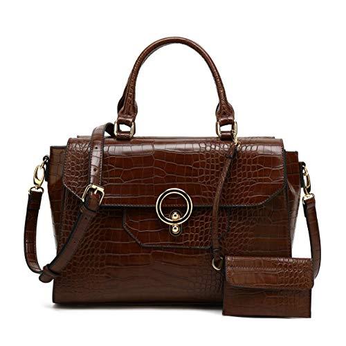 Womens Handbag and Purses Designer Pu Leather Tote Bag Shoulder bag Fashion Embossed Top Handle Bags -