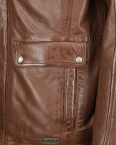 Mustang 31019262-rf - Giacca in pelle da uomo, taglio normale Marrone XXXL  om9zl