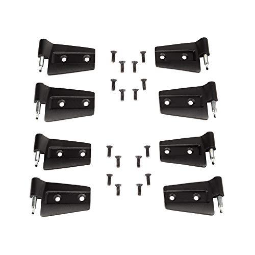 Rugged Ridge 11202.32 8 Pack Hinge Kit, 8 Piece 07-18 Jeep Wrangler Unlimited JKU, 4 Door ()