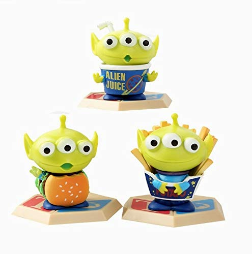 PAPRING Set 3 Toy Toys Action Figure 2 inch Hot PVC Figures Buzz Lightyear Little Green Men Sheriff Woody Jessie Small Model Mini Doll Christmas Halloween Birthday Gift Cute Collectible for Kids Adult