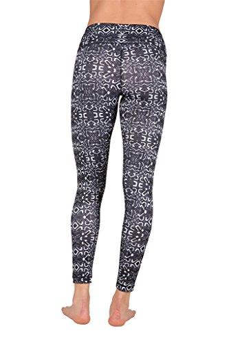 cd0bb40714 90 Degree By Reflex - Performance Activewear - Printed Yoga Leggings -  Junction Black - Small