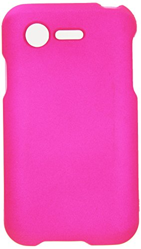 HR Wireless Rubberized Cover for LG Optimus Zone 2 L34C Fuel - Retail Packaging - Hot Pink