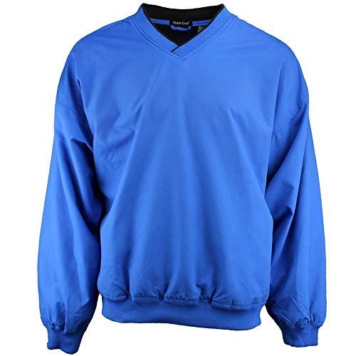 (Rivers' End Mens Lined Microfiber Windshirt Athletic Jacket Blue L)