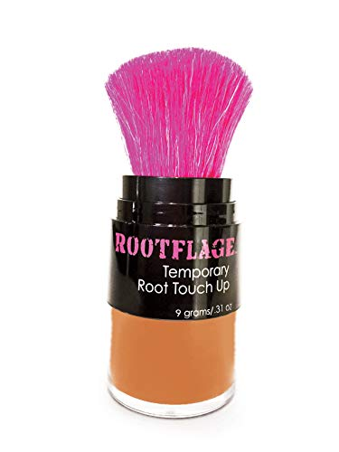 Rootflage Root Touch Up Hair Powder - Temporary Hair Color, Root Concealer, Thinning Hair Powder and Concealer and Applicator with Detail Brush Included.31 oz (12 Bright Copper)
