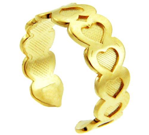 Fancy Heart Yellow Gold Toe Ring (10K Gold)