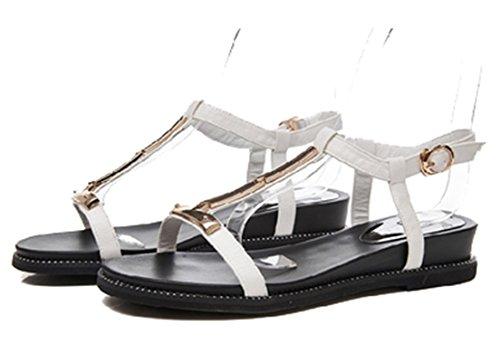 Sandals Shoes Rome Simple Female Flat White Casual Respeedime Soft wqTfCCA