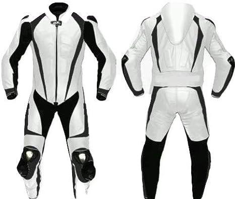 Amazon.com: Traje de carreras de piel para motocicleta ...