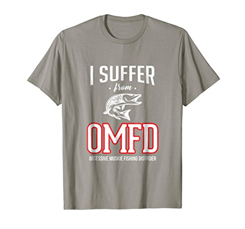 Mens I Suffer From Obsessive Muskie Fishing Funny Fishing T-Shirt Large (Muskie Fish)