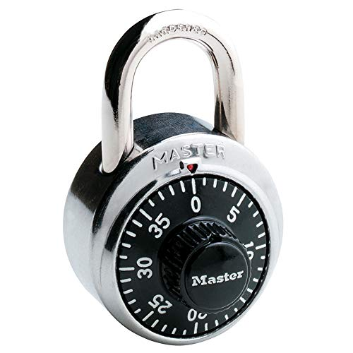 Master Lock 1500D Dial Combination Padlock, 1 Pack, Black (Best Combination Lock For Gym)