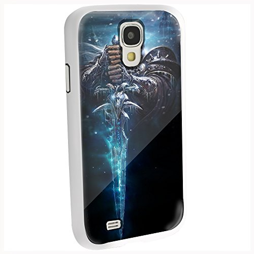 World of Warcraft Wow Anime Game Lich King Frostmourne Arthas for Iphone and Samsung Galaxy (Samsung Galaxy s4 white)