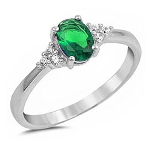 Oval Cut Emerald Ring - 2