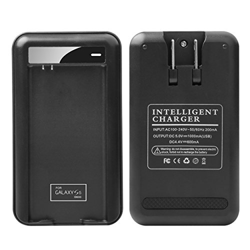 Price comparison product image Samsung Galaxy S5 Specialized Battery Charger: Lrker Specialized Intelligent Portable USB Travel Charger for Samsung Galaxy S5 & S5 Active Spare battery EB-BG900BBC - Battery is Not Included(1 C)