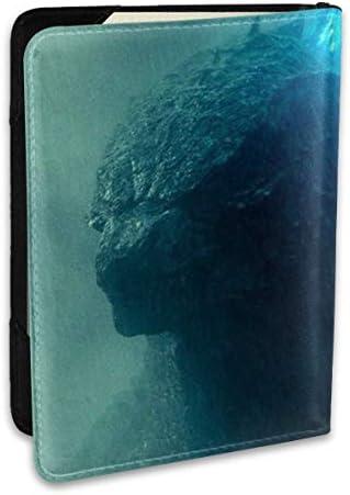 Godzilla Monsters ゴジラ モンスター パスポートケース メンズ 男女兼用 パスポートカバー パスポート用カバー パスポートバッグ 小型 携帯便利 シンプル ポーチ 5.5インチ高級PUレザー 家族 国内海外旅行用品