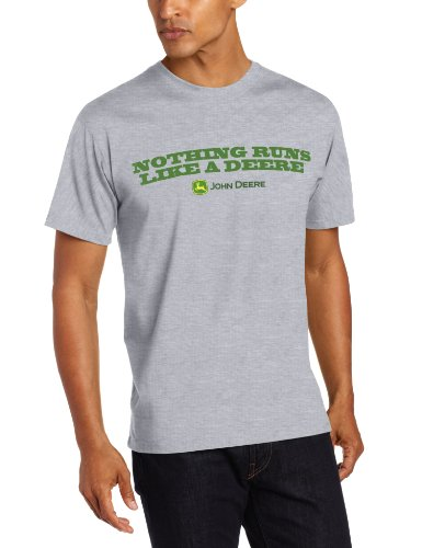 John Deere 'Nothing Runs Like a Deere' T-Shirt - Men's - Oxford Gray, Large