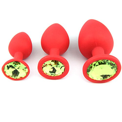 Hot Sale Excellent Quality Sex Products 1pc Silicone Anal Plug Butt Plug Unisex Plated Jewelry Sex Stopper Anal Trainer Adult Toys for Men Women Couples Adult Games S red