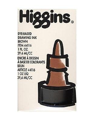 Higgins Color Waterproof Drawing Inks brown [PACK OF 4 ]