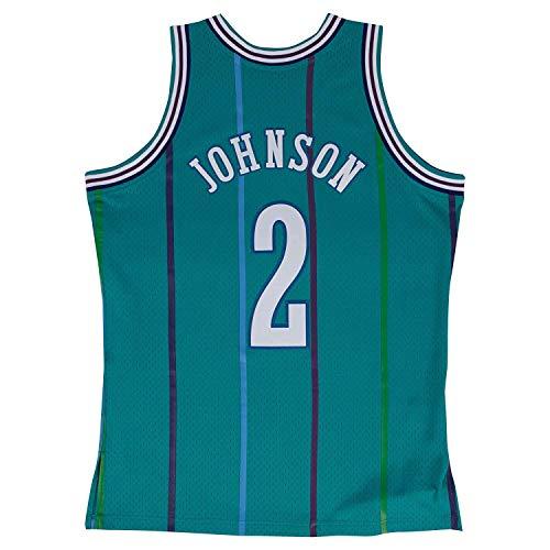 - Larry Johnson Charlotte Hornets NBA Mitchell & Ness Teal Green 1992-93 Swingman Throwback Jersey For Men (L)