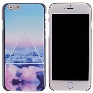WQQ nubes de colores y triángulo pattern pc cubierta dura para el iPhone 6