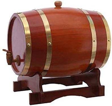 KDJJH WhiskyBarrel, Eichenholz Faß Wein Weinfass Eichenfässer Eichenfass Anzug für Zuhause Bar,red_1.5L