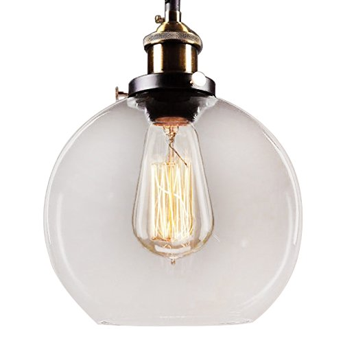 Whse of Tiffany LD4683 Maisie Adjustable Height Edison Pendant with Bulb, - Co Tiffany Outlet