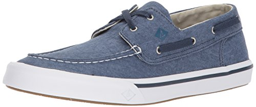SPERRY Men's Bahama II Boat Washed Sneaker, Navy, 11