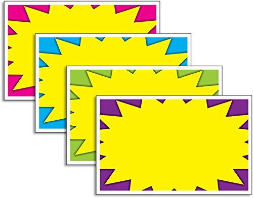Retail Blank Store Signs, Starburst, 5.5