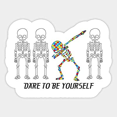 Dare to Be Yourself Autism Awareness - Sticker Graphic - Car Vinyl Sticker Decal Bumper Sticker for Auto Cars Trucks: Kitchen & Dining