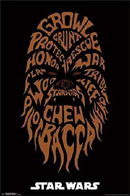 Amazon com: Star Wars Chewbacca Word Art 24