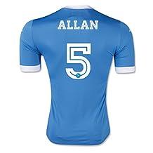 #5 Allan Light Blue Home Adult Soccer Jersey 2015 - 2016