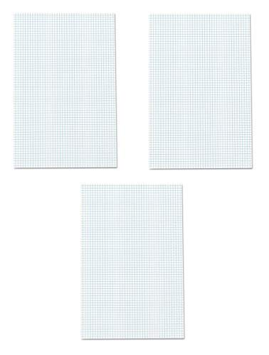 Ampad Quadrille Double Sided Pad, 11 x 17, White, 4x4 Quad Rule, 50 Sheets, 3 Pads, 150 Sheets Total (22-037) by Ampad