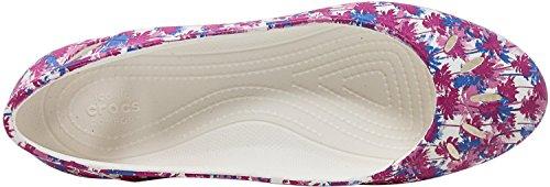 Flats Crocs Bianco Graphic Kelli Donna qagawxEF