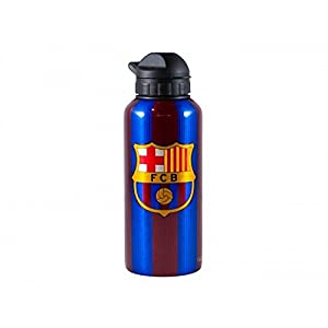 F.C. Barcelona FC Barcelona Unisex Striped Signed Water Bottle (One Size) (Maroon/Red)