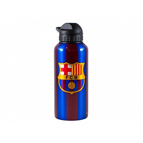 FC Barcelona Unisex Striped Signed Water Bottle (One Size) (Maroon/Red)