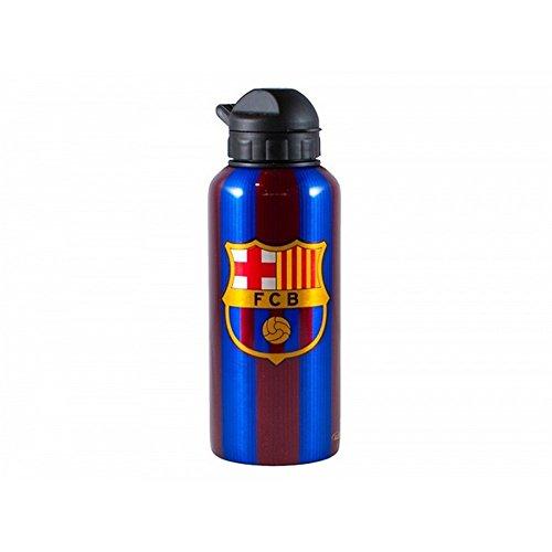 Bottle Signed - FC Barcelona Unisex Striped Signed Water Bottle (One Size) (Maroon/Red)