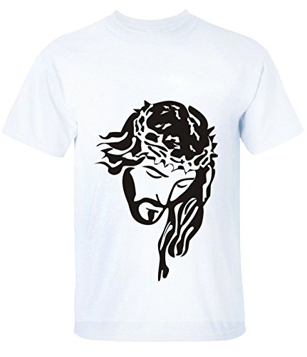 Break Time Women's Holy Jesus Casual Tops tee white