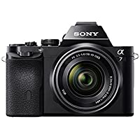 Sony Alpha 7K a7K Digital Camera and 2 64GB Cards and 2 Batteries Bundle - Includes camera, 2 64GB SDXC Memory Cards, 59 Tripod, 2 NP-FW50 Camera Batteries, Carrying Case, 55mm Filter Kit and more