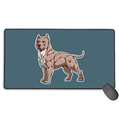 (GGlooking Gaming Mouse Mat Dog Large Computer Pad Non-Slip Keyboard Desk Accessories,Office & School Supplies)