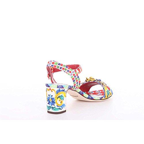 Dolce & Gabbana Sandali Cr0229ae982 Signore Bianco Fantasia